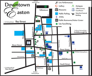 Downtown Easton Map
